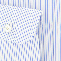 $375 Barba Napoli Blue Striped Shirt - Extra Slim - (I145141U13R) - Parent