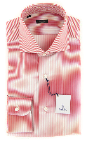 Barba Napoli Red Shirt - Extra Slim