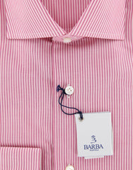 Barba Napoli Pink Shirt - 17 US / 43 EU  Shirt - ShopTheFinest- Luxury  Italian Designer Brands for men
