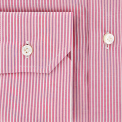 New $325 Barba Napoli Pink Striped Shirt - Extra Slim - 16.5/42 - (I1U13T341602)