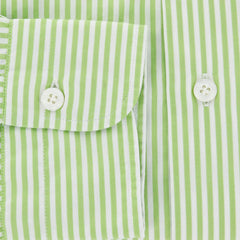 New $325 Barba Napoli Green Shirt - Extra Slim - 15.75/40 - (LIU13R425206)