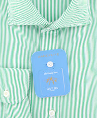 New $325 Barba Napoli Green Shirt - Extra Slim - (I1U13R441801U) - Parent