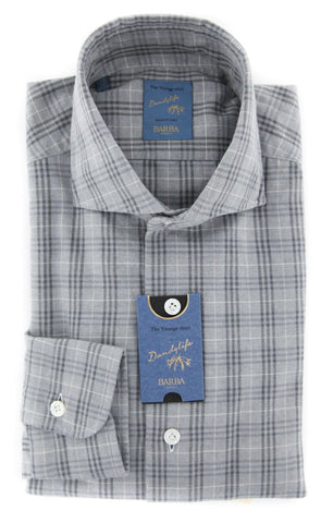 Barba Napoli Gray Shirt - Extra Slim