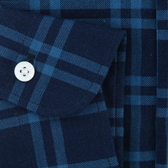 New $325 Barba Napoli Blue Plaid Shirt - Extra Slim - (BN60092703) - Parent