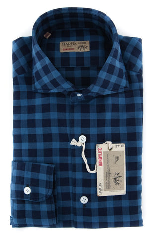 Barba Napoli Dark Blue Shirt - Extra Slim