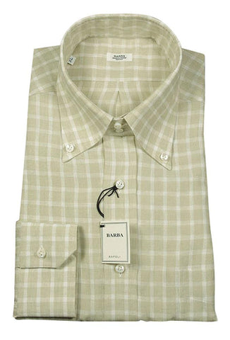 Barba Napoli Beige Shirt - Slim