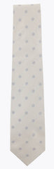 "$195 Barba Napoli Cream Polka Dot Silk Tie - 3.5"" x 58"" - (566)"