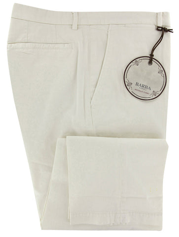 Barba Napoli Cream Pants – Size: 40 US / 56 EU