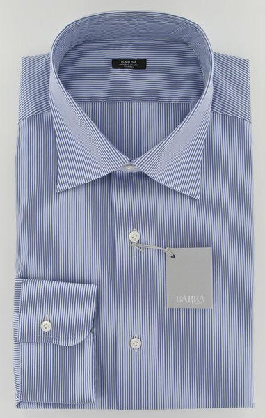 New $325 Barba Napoli Navy Blue Shirt 17/43