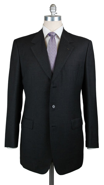 $6000 Brioni Charcoal Gray Wool Solid Suit - (CESARE215821653) - Parent