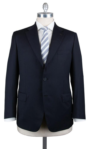 $6300 Brioni Navy Blue Super 150's Suit - (PARLAMENTO21574456S) - Parent
