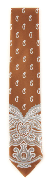 "New $230 Brioni Brown Paisley Tie - 3"" x 58"" - (BRTIEX6)"