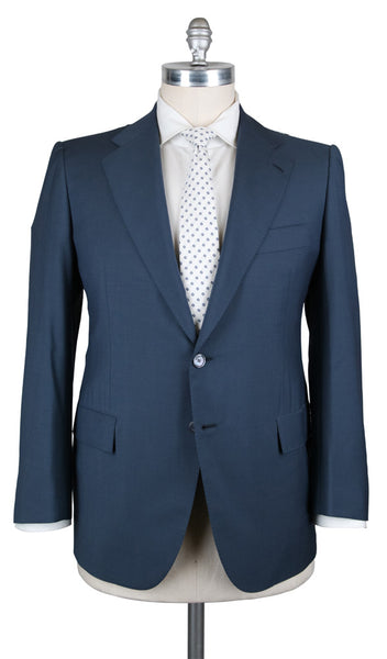 New $5700 Cesare Attolini Blue Suit - (AUK20PUA3S10WA31B21C6) - Parent