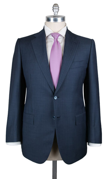 New $6300 Cesare Attolini Blue 150's Suit - (AUK20PUB3A10WA72B21R6) - Parent