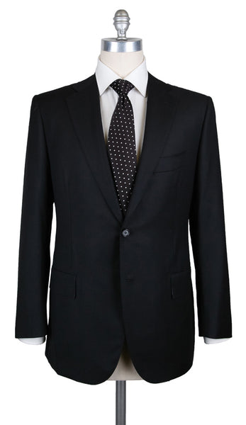 New $6300 Cesare Attolini Black Suit - (K20PUB3A11WA20D32R7) - Parent