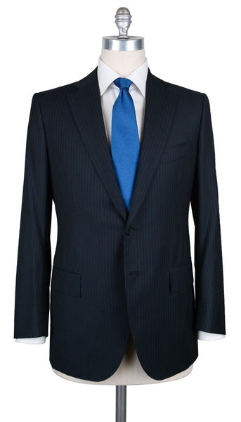 New $6300 Cesare Attolini Navy Blue 150's Suit - (AUK20PUB3A11WA45B31R6) - Parent