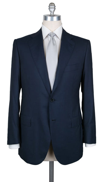New $6600 Cesare Attolini Navy Blue Suit - (AUK20PUB3MWA56B38R6) - Parent