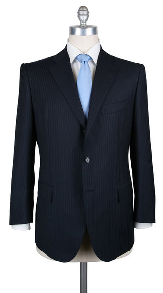 New $6300 Cesare Attolini Navy Blue Suit - (AUK30PUB3A11WA45B31C4) - Parent