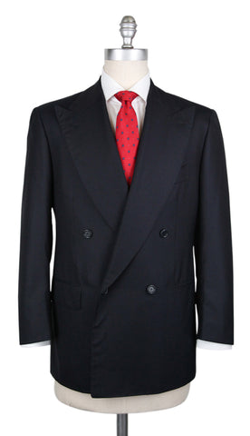Cesare Attolini Midnight Navy Blue Suit