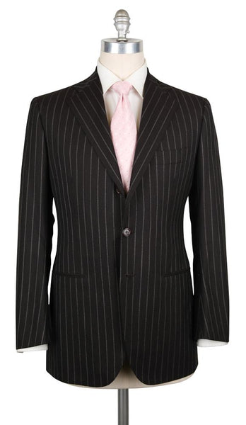 New $6300 Cesare Attolini Dark Brown Striped Suit - (CA811173) - Parent