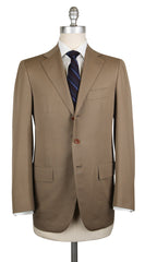 New $6300 Cesare Attolini Beige Wool Solid Suit - 36/46 - (CA89172)