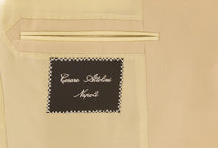 $5850 Cesare Attolini Beige Super 150's Solid Suit - (690) - Parent