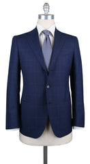 New $6600 Cesare Attolini Dark Blue Super 130's Suit - (CAMA60B39R7) - Parent