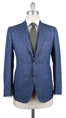 New $7600 Cesare Attolini Denim Blue Vintage Wash Suit - 38/48 - (CAMA43B21R7)