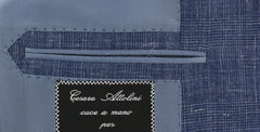 New $7600 Cesare Attolini Denim Blue Vintage Wash Suit - (CAMA43B21R7) - Parent
