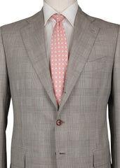 $6300 Cesare Attolini Brown Super 110's Plaid Suit - (348) - Parent