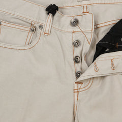 New $450 Cesare Attolini Cream Solid Jeans - Slim - (CA5557812030) - Parent