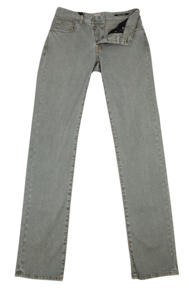 New $450 Cesare Attolini Green Wash Pants - Slim - (CAC5P5781440) - Parent