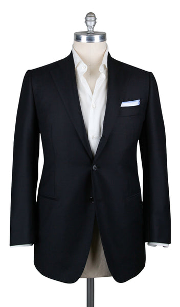New $4800 Cesare Attolini Midnight Navy Solid Sportcoat - (CA30519316) - Parent