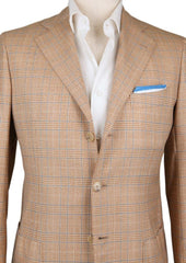New $5400 Cesare Attolini Light Brown Plaid Sportcoat - (CA35605117) - Parent