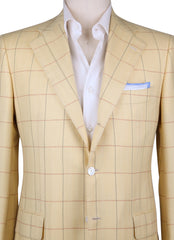 New $6000 Cesare Attolini Yellow Cashmere Sportcoat - (CAK30504216) - Parent