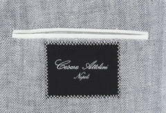 New $5100 Cesare Attolini Gray Herringbone Sportcoat - (CA341302317) - Parent