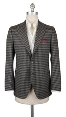 $4800 Cesare Attolini Dark Brown Wool Check Sportcoat - 38/48 - (205)