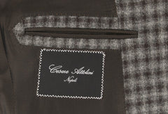 $4800 Cesare Attolini Dark Brown Wool Check Sportcoat - (205) - Parent