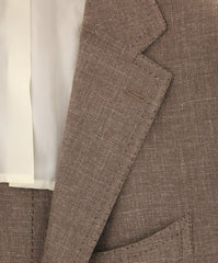 New $4800 Cesare Attolini Brown Solid Sportcoat - (CA351276317) - Parent