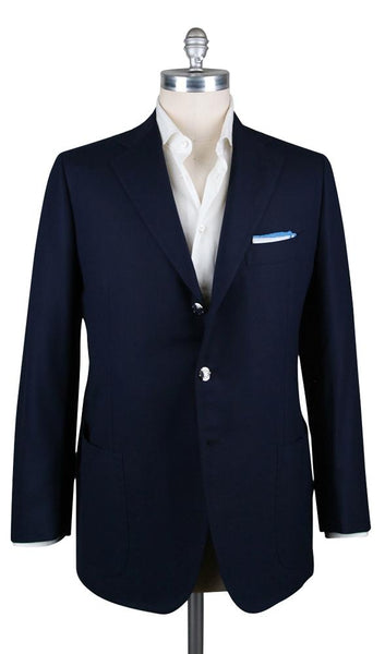 New $5400 Cesare Attolini Dark Blue Wool Solid Sportcoat - (CA351309216) - Parent