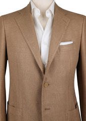 New $4800 Cesare Attolini Caramel Brown Solid Sportcoat - (CA35953317) - Parent