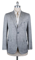 New $5400 Cesare Attolini Gray Silk Fancy Sportcoat - (CA391403317) - Parent