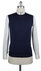 New $450 Cesare Attolini Navy Blue Sweater - Vest - Small/48 - (KW111M10KW18)