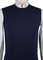 New $450 Cesare Attolini Navy Blue Sweater - Vest - (KW111M10KW18) - Parent