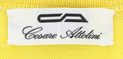 New $650 Cesare Attolini Yellow Sweater - Crewneck - (KW113M16Y30) - Parent