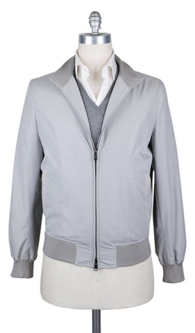 Cesare Attolini Light Gray Windbreaker