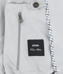 New $2650 Cesare Attolini Light Gray Solid Windbreaker - (CA11591389) - Parent