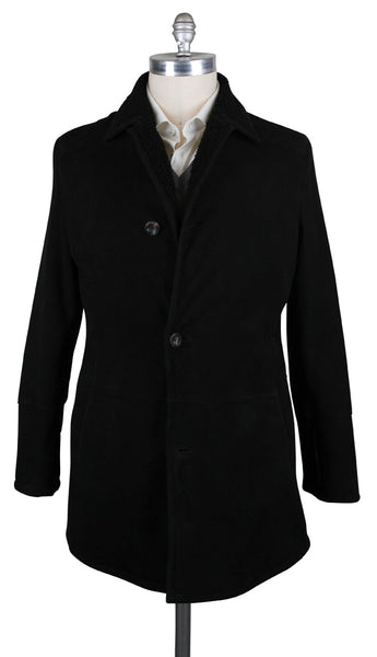 New $6800 Cesare Attolini Black Shearling Solid Jacket - (LT213M10D31) - Parent