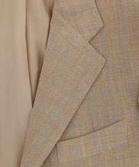 New $5400 Cesare Attolini Light Brown Window Sportcoat - (CAL30717017) - Parent