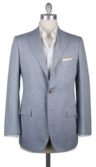 New $5400 Cesare Attolini Light Blue Fancy Sportcoat - (CA30848217A) - Parent